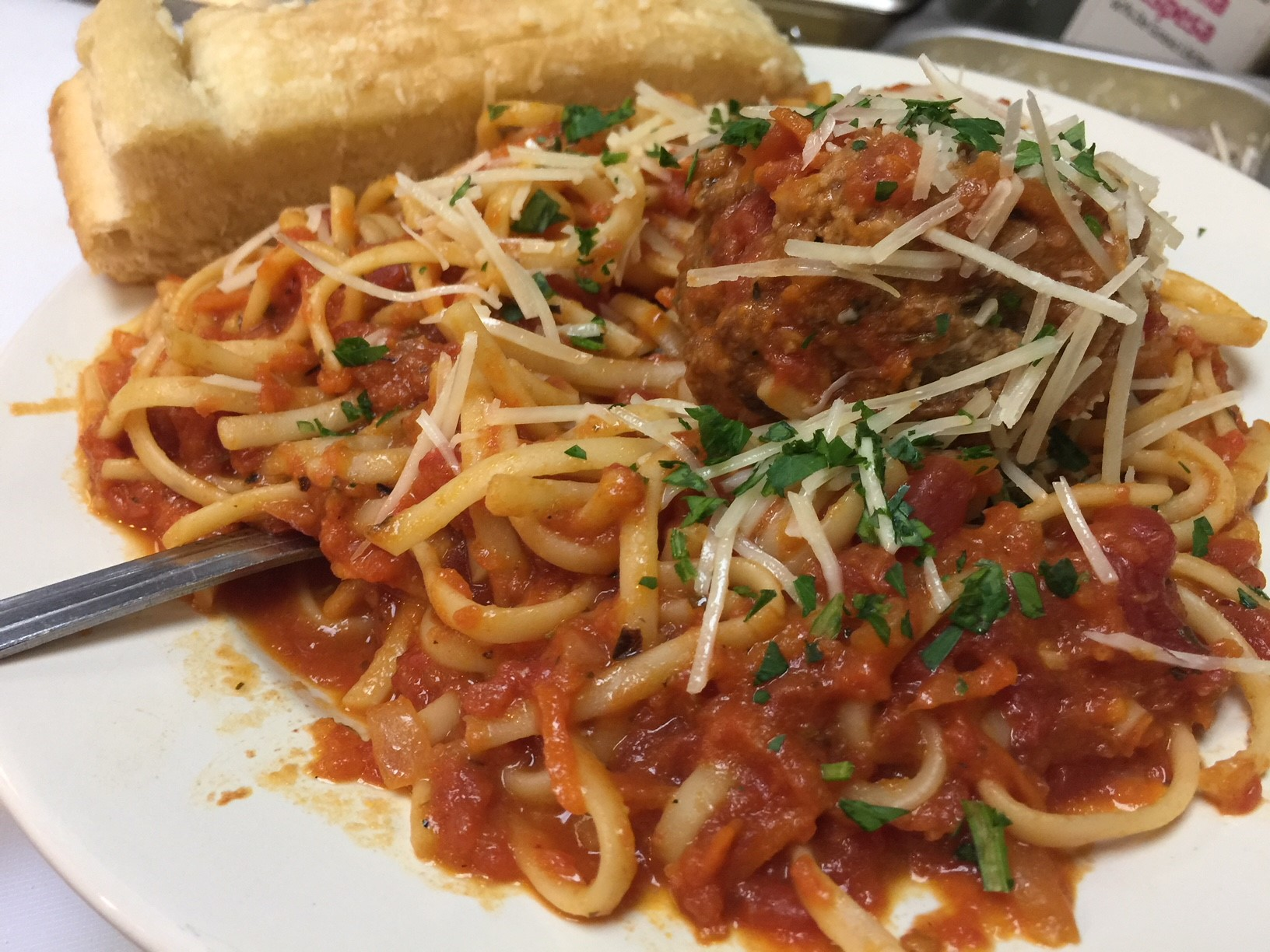 Lunch Linguini & Meatball Image