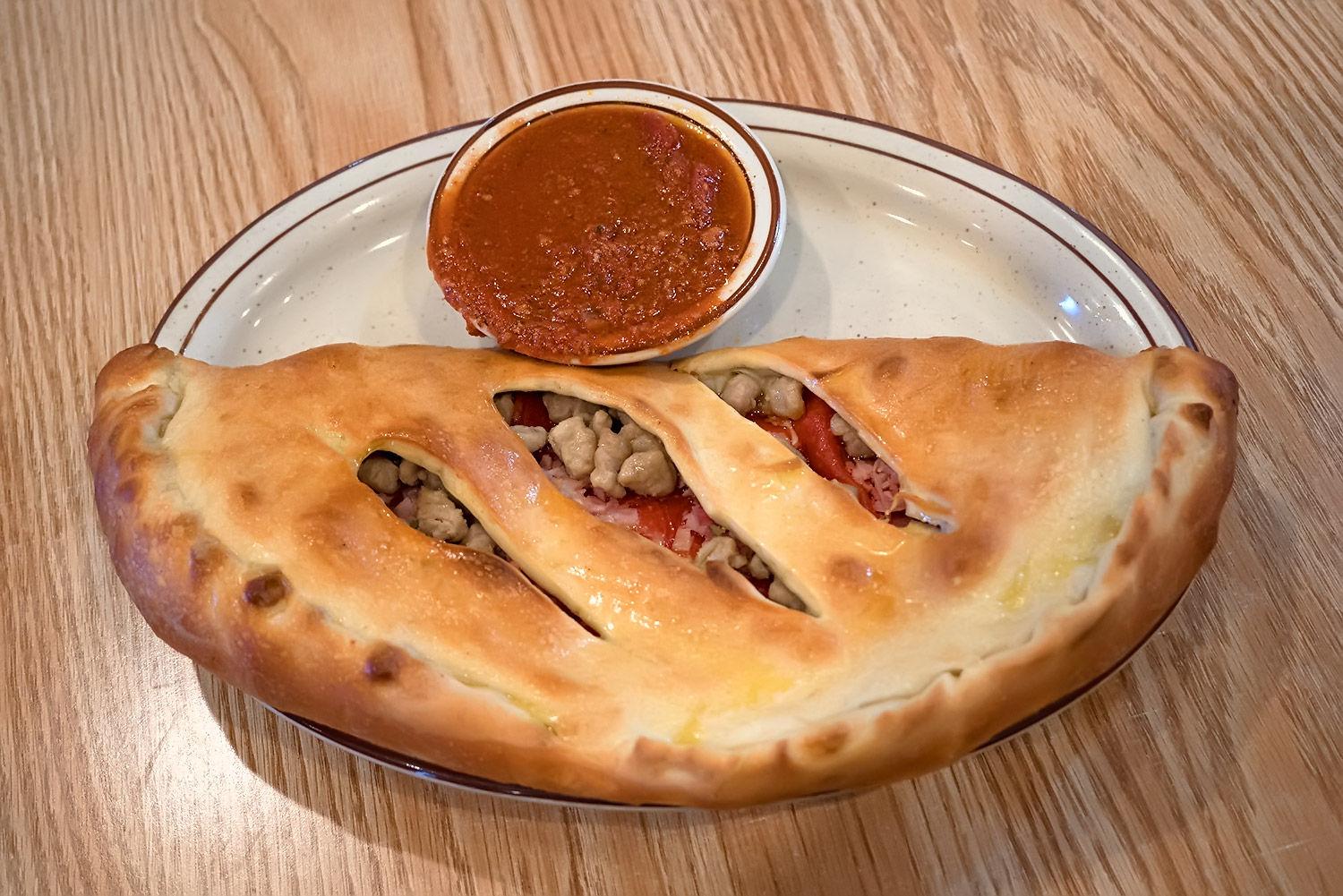 Cheese Stromboli with Three Items Image