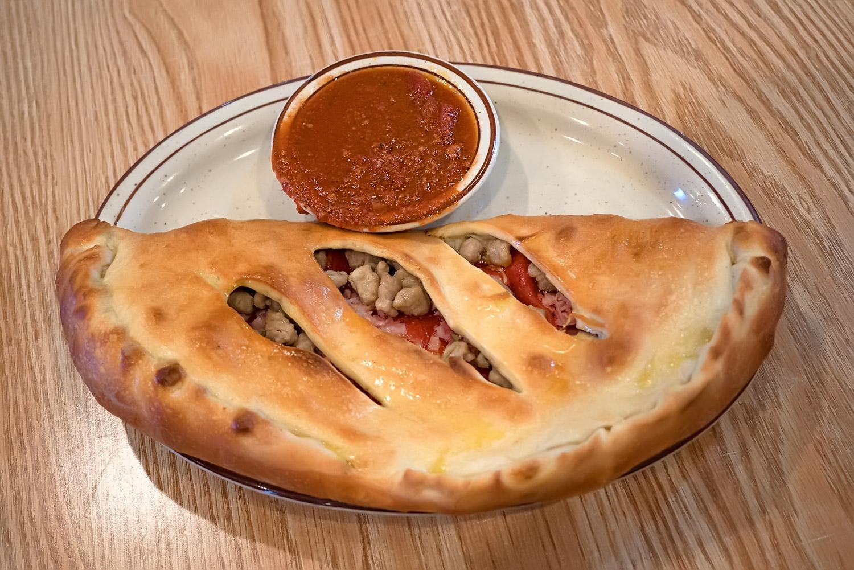Cheese Stromboli with Three Items Image