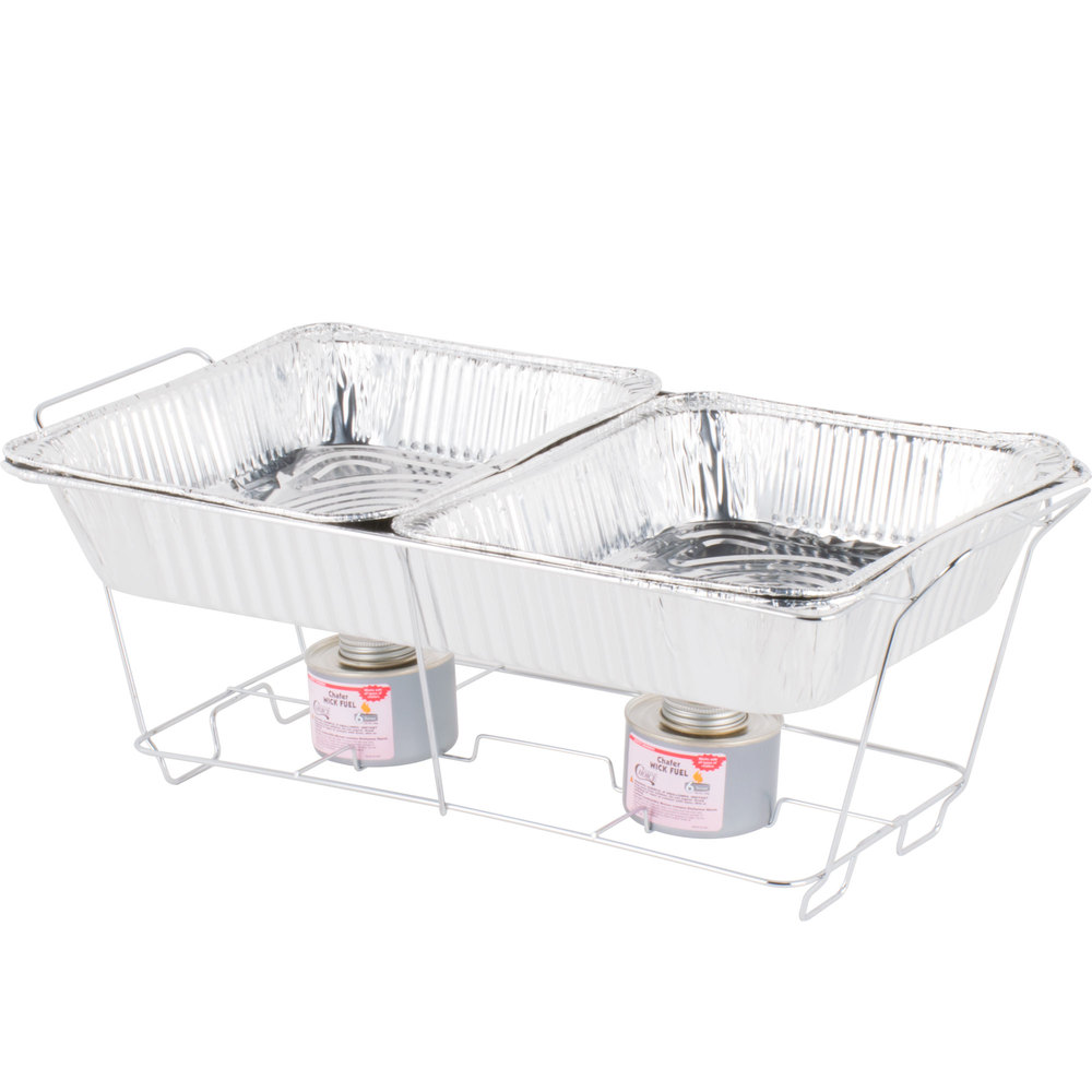 Disposable Chafer & Sterno Package
