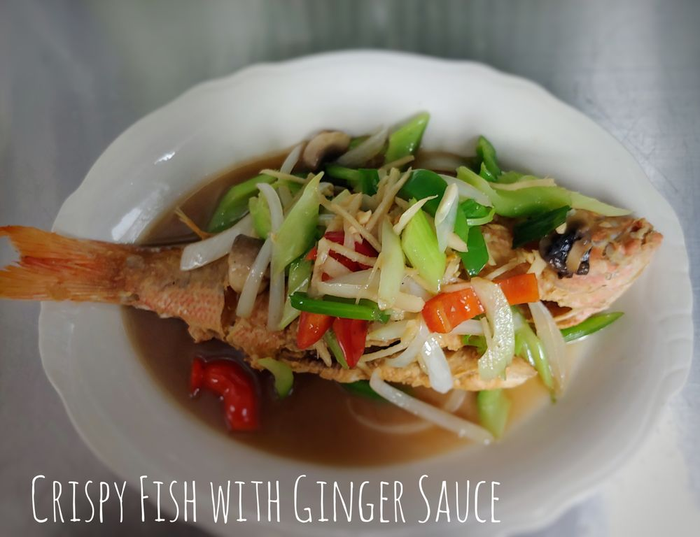 F4. Crispy Fish With Ginger Sauce Image