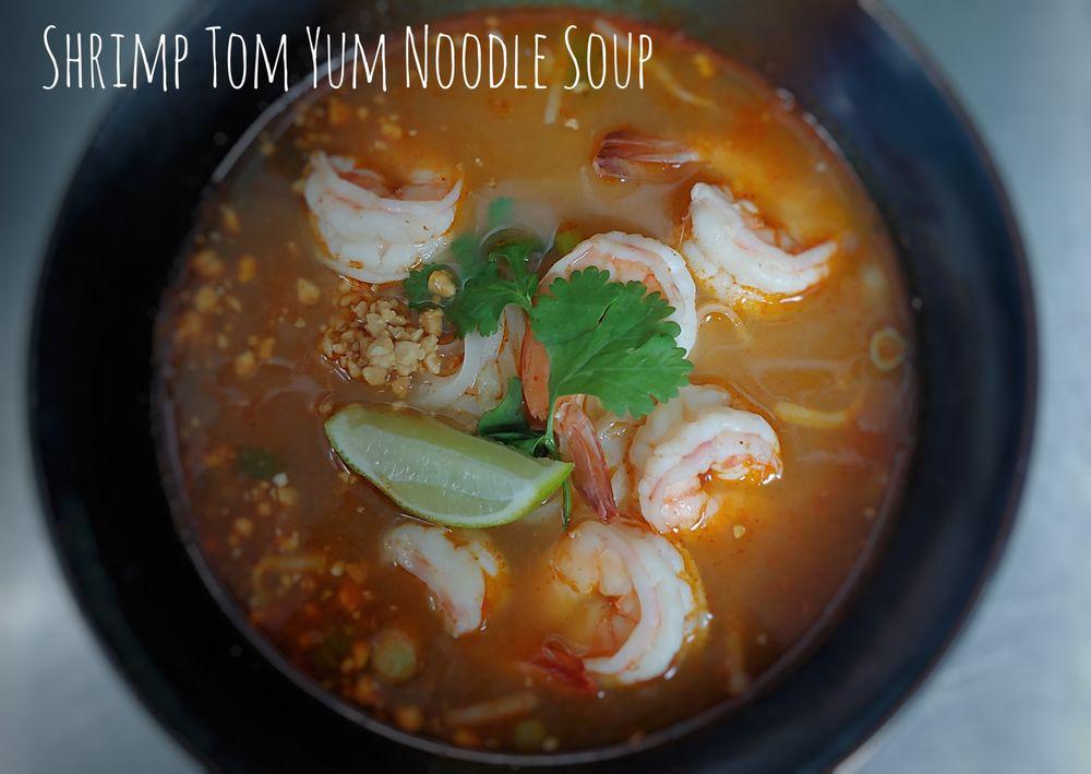 Tom Yum Shrimp Noodle Soup Image