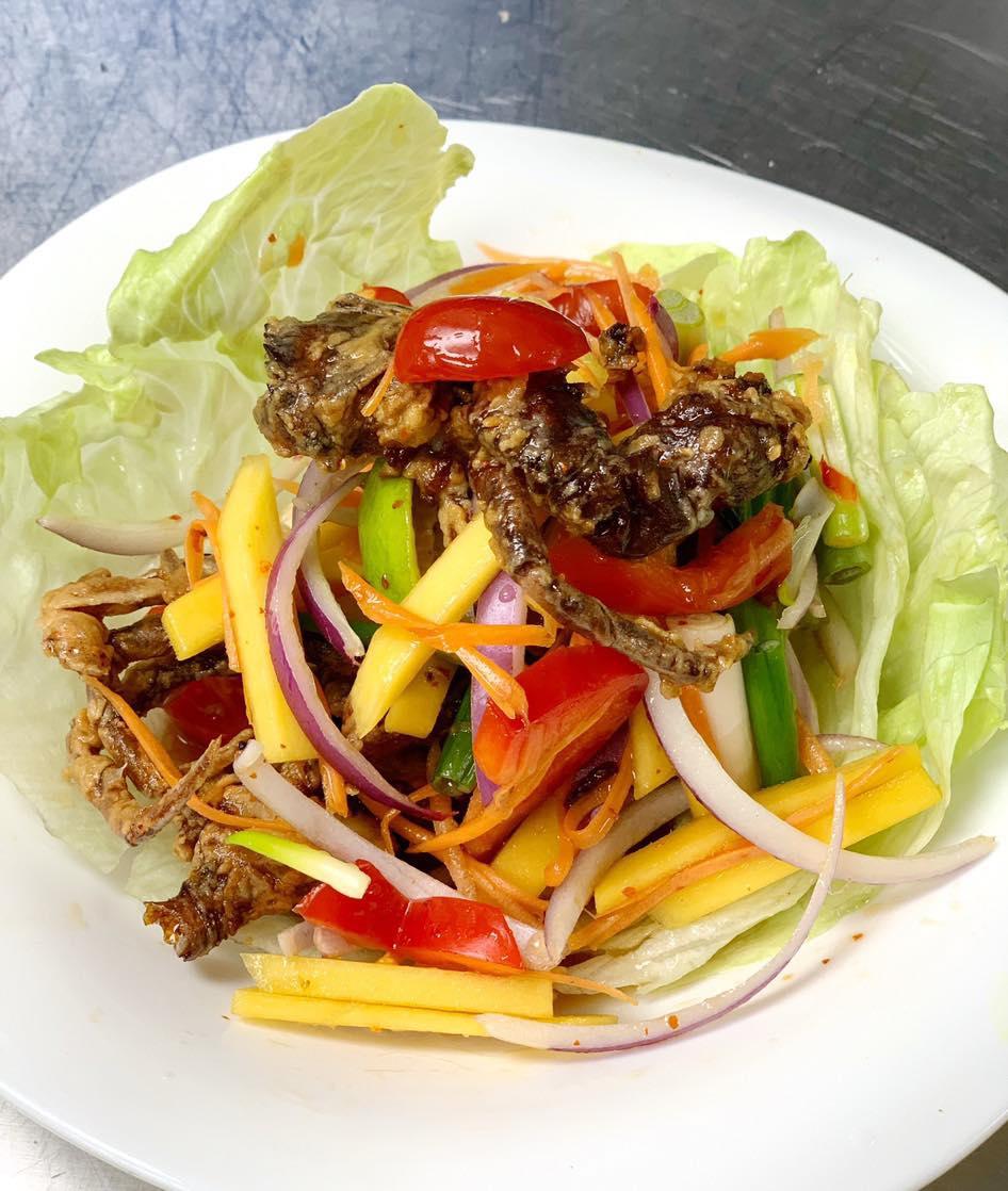 Soft Shell Crab Mango Salad Image