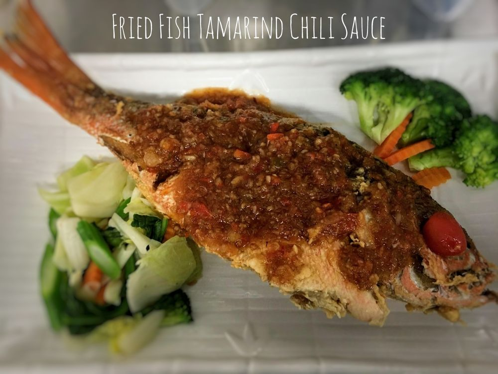 F1. Fried Fish Tamarind Chili Sauce Image