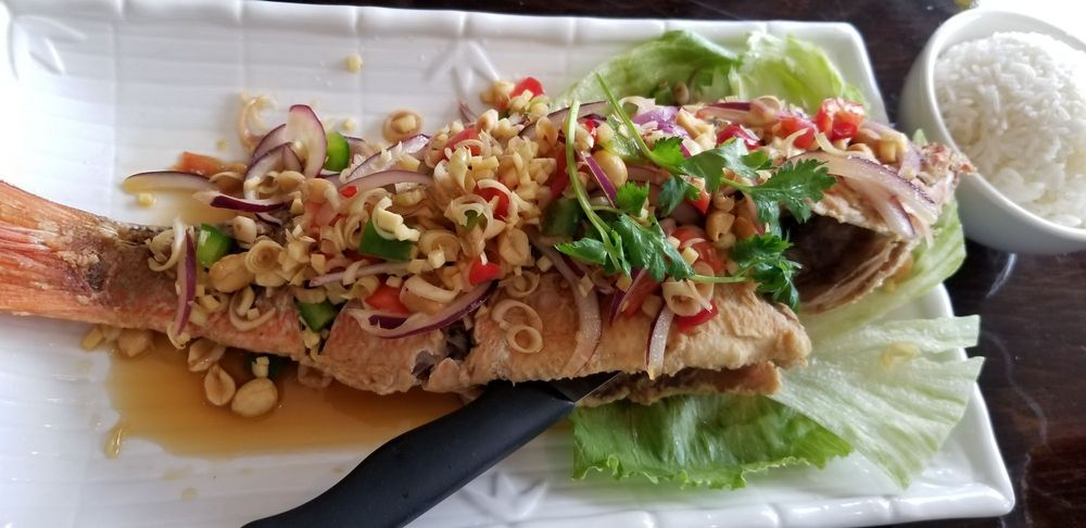 F2. Fried Fish with Thai Herbs Image