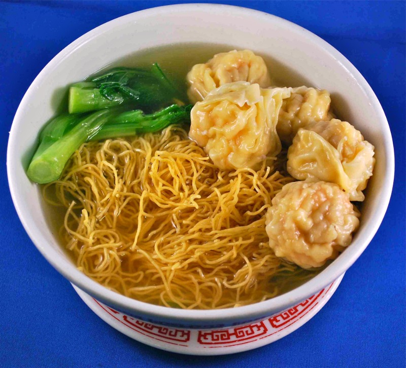 Chinese Wonton with Noodles Soup