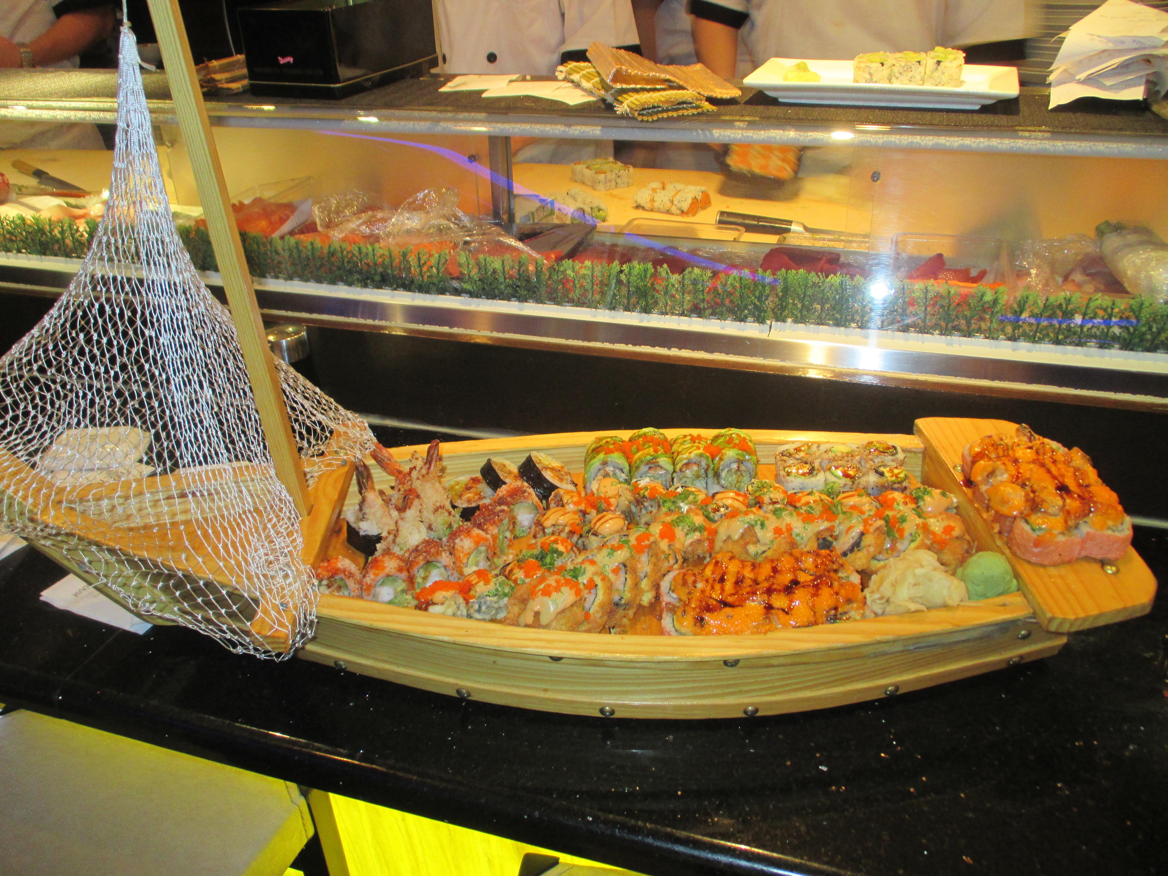 Sushi & Sashimi Boat Image