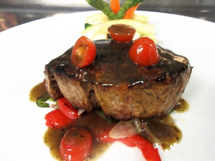 Grilled Center Cut Filet Mignon with Thai Basil Sauce Image