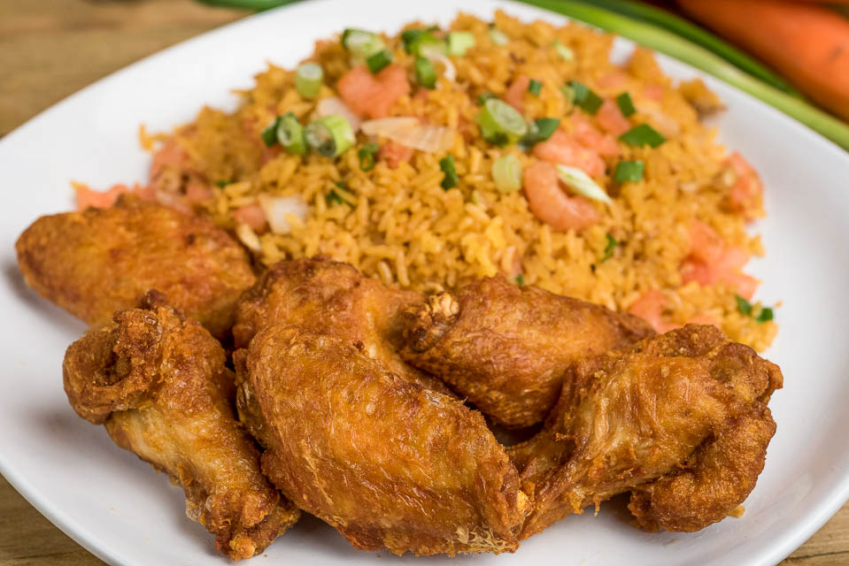 38. Sesame Chicken with Seafood Fried Rice Image