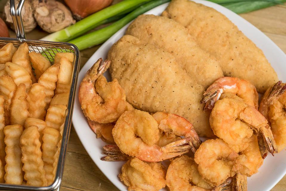 K1. 2pcs Crispy Chicken Strips & 6pcs Large Shrimp