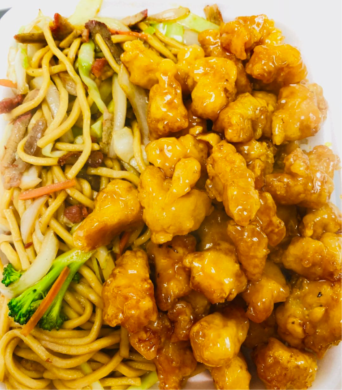 41B. Orange Chicken w/ Lo Mein Image