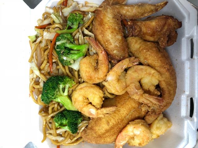 H8. 2 Pcs Fish, 2 Pcs Wings, 6 Pcs Large Shrimps