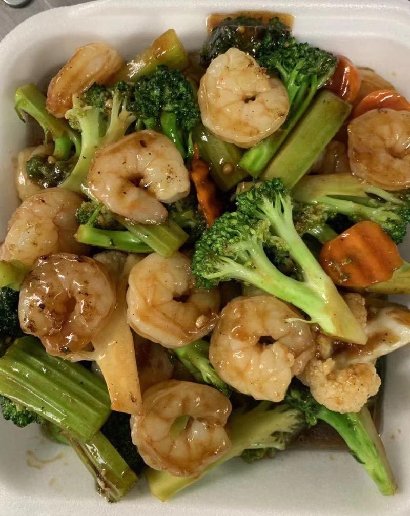 V7. Shrimps with Mix Vegetables Image