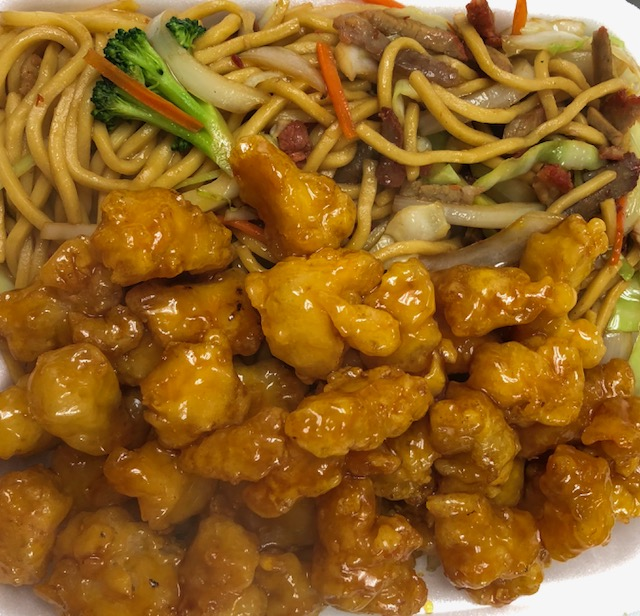 38. Sesame Chicken with Lo Mein Image