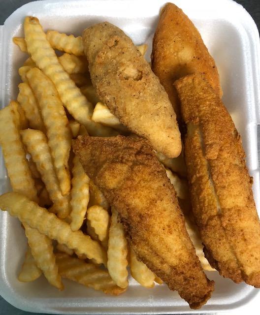L2. Fried Fish (2pcs) and Crispy Chicken Strips (2pcs) Image