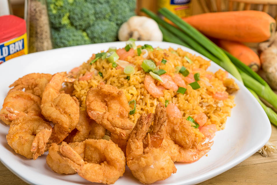 H1. 12 Large Fried Shrimps Image
