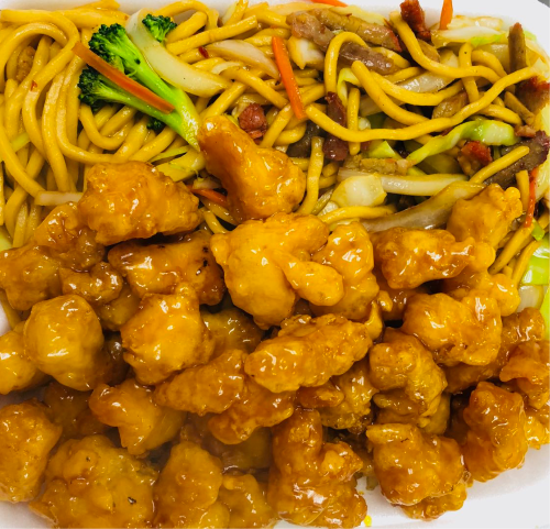 41. Honey Chicken with Lo Mein Image