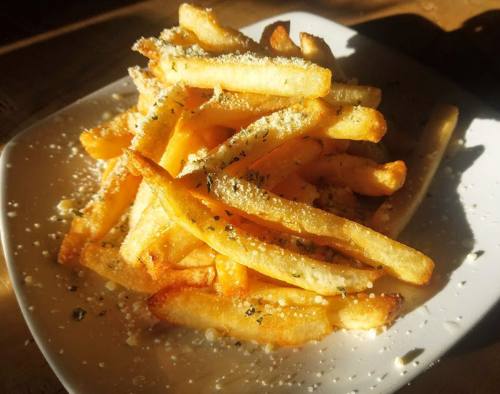 Truffle Fries with Sea Salt and Pecorino Romano