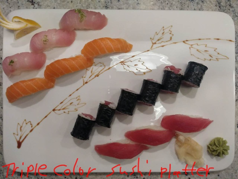 Triple Color Sushi Platter Image