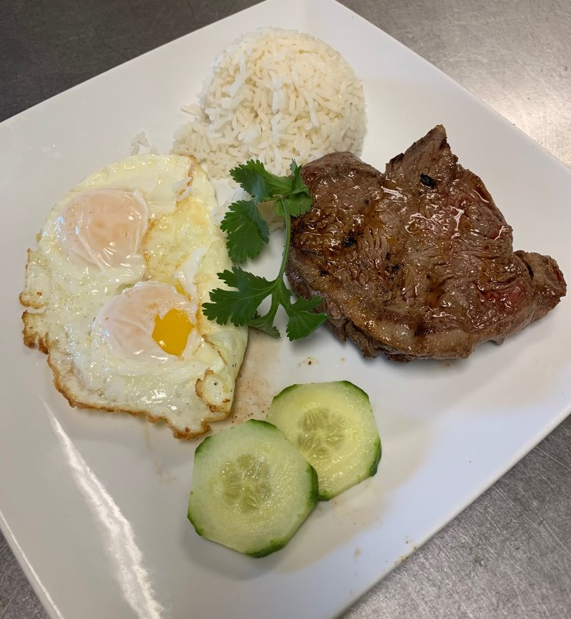 Steak & eggs w/rice Image