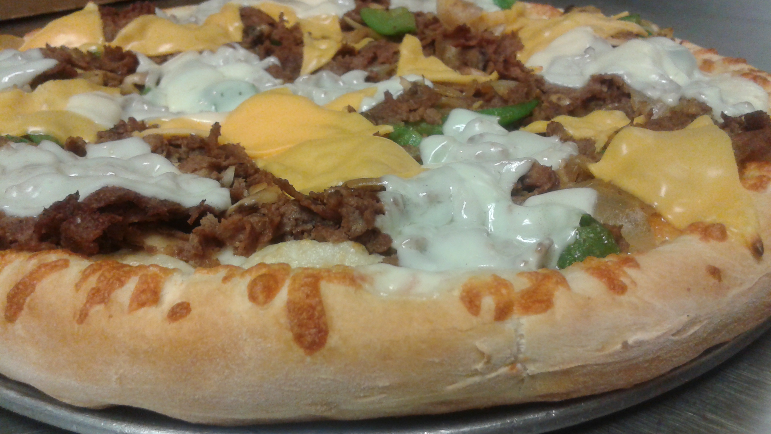Cheese Steak Pizza Image