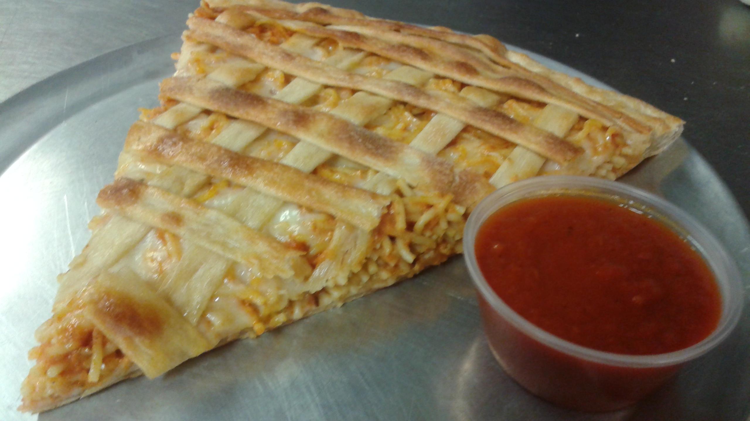Spaghetti Pizza Slice Image
