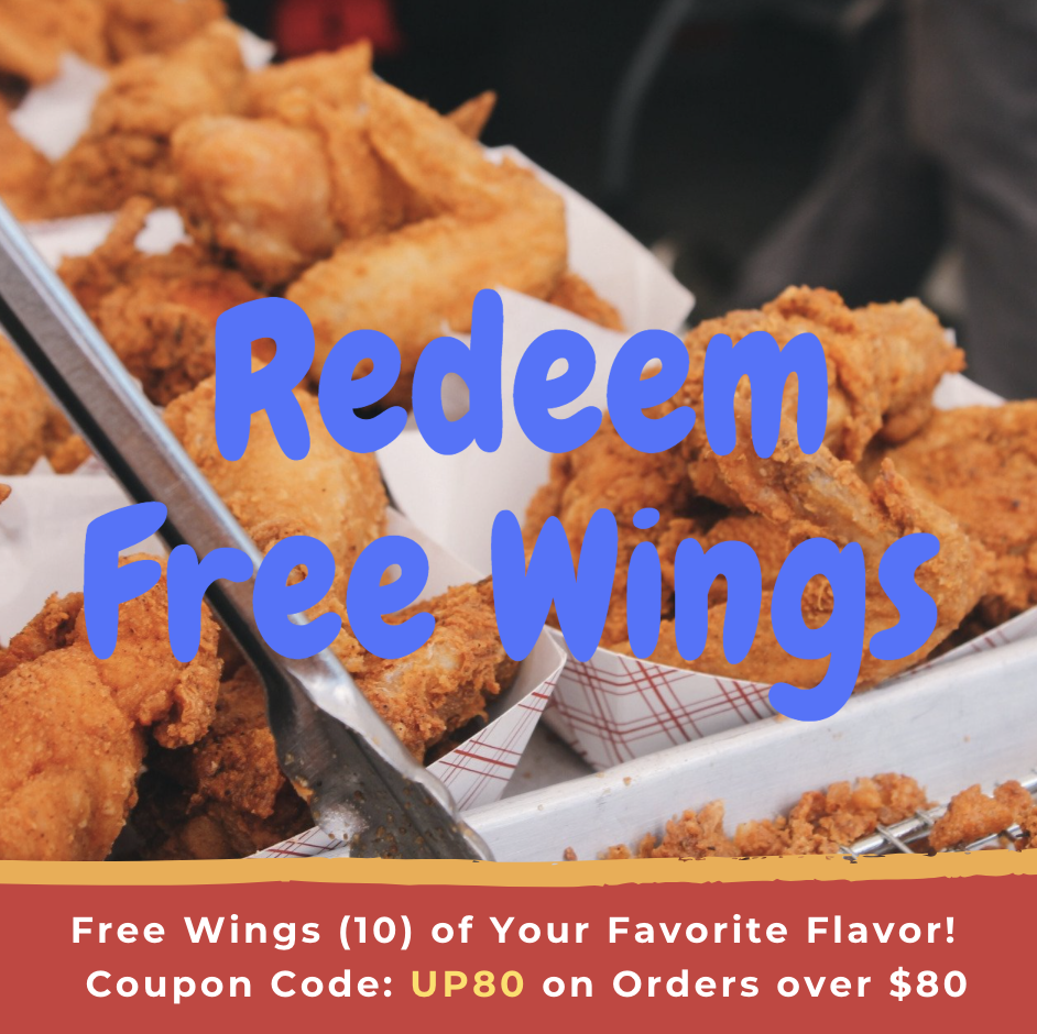 free wing on purchase over $80