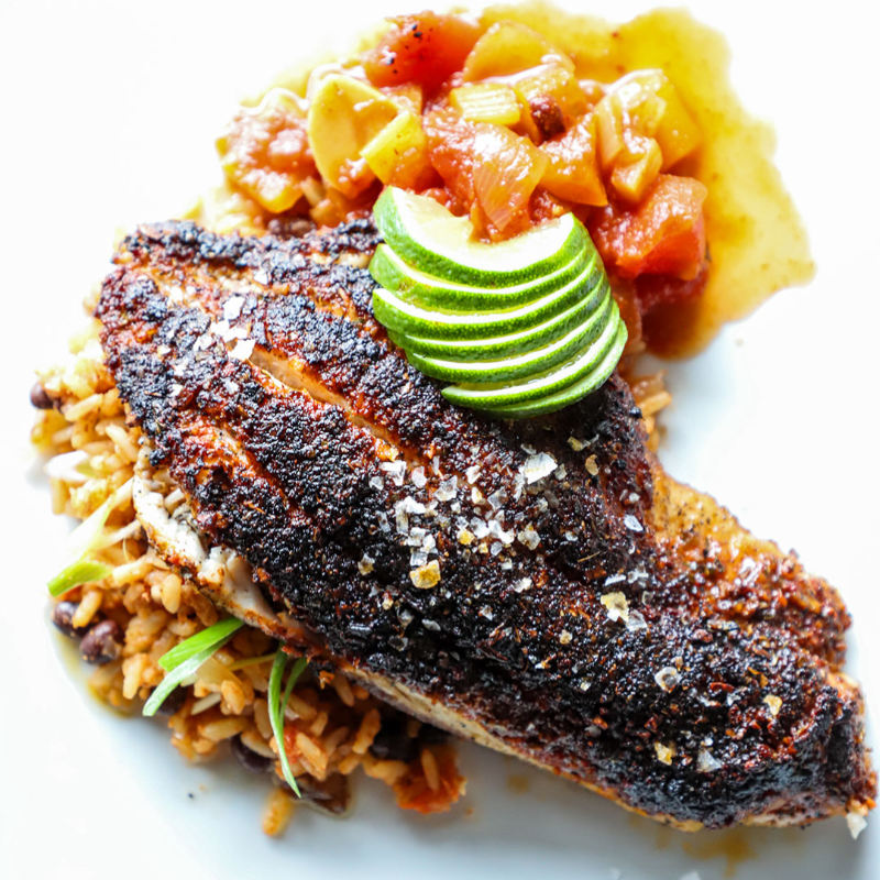 BLACKENED CATFISH DINNER