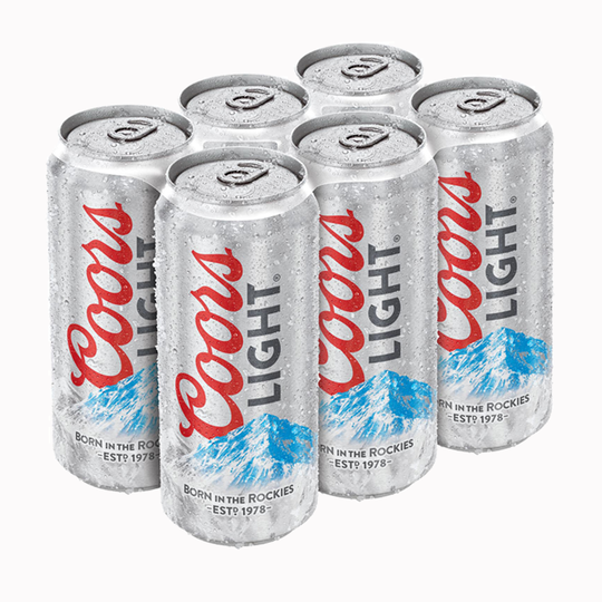 COORS LIGHT TALLBOY 6 PACK Image