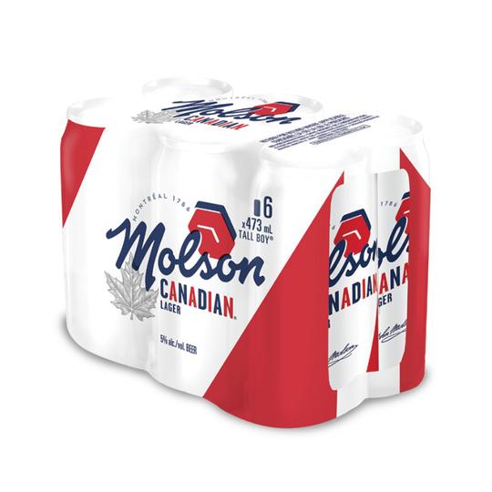MOLSON CANADIAN TALLBOY 6 PACK Image