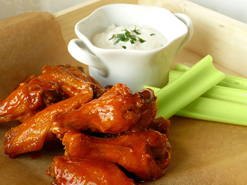Buffalo Wings w/ Celery Sticks and Bleu Cheese Image