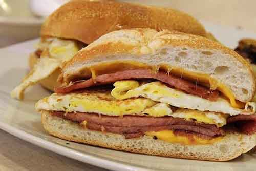 Egg, Meat and Cheese—Pork Roll, Ham, Bacon or Sausage
