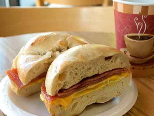 Egg and Meat—Pork Roll, Ham, Bacon or Sausage Image