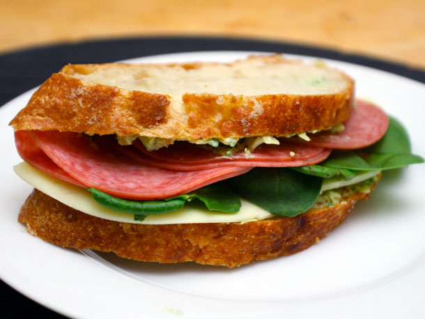 Salami Sandwich Image