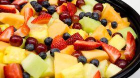 Assortment of Cheese and Seasonal Fruit Image
