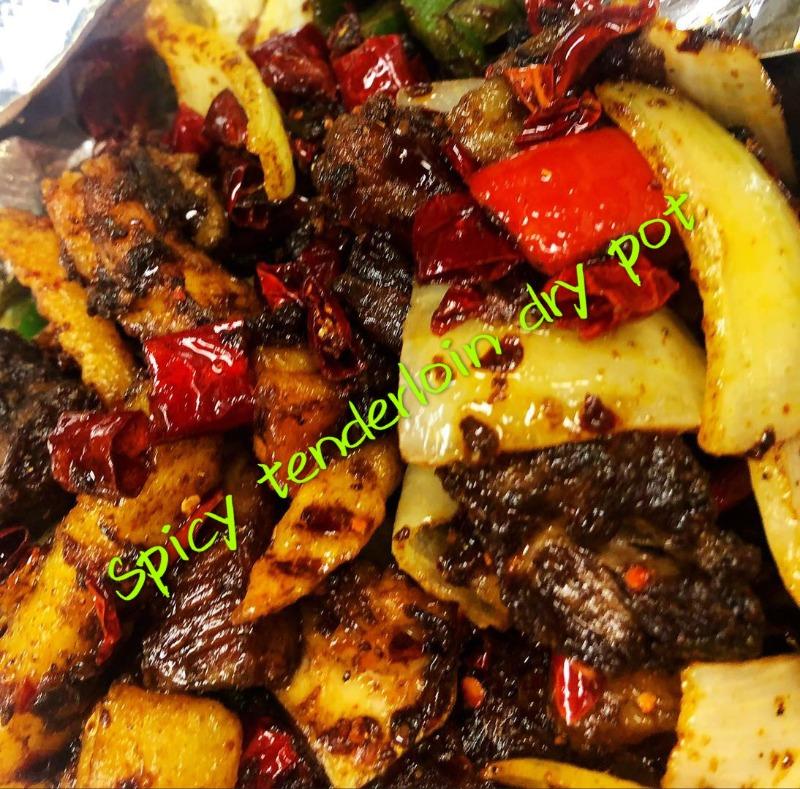 干锅牛腩 Fried & Spicy Beef Tendon Dry Pot
