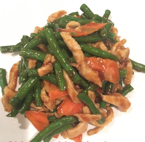 7. String Beans with Chicken