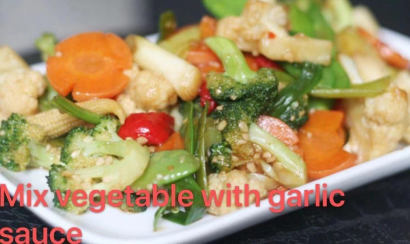 3. Mixed Vegetable with Garlic Sauce Image