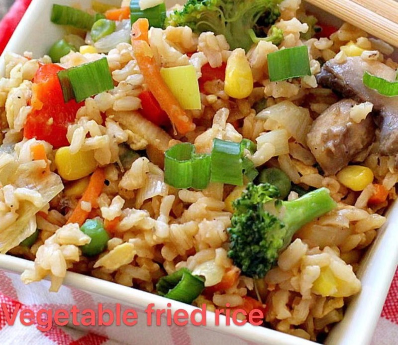 1. Vegetable Fried Rice Image