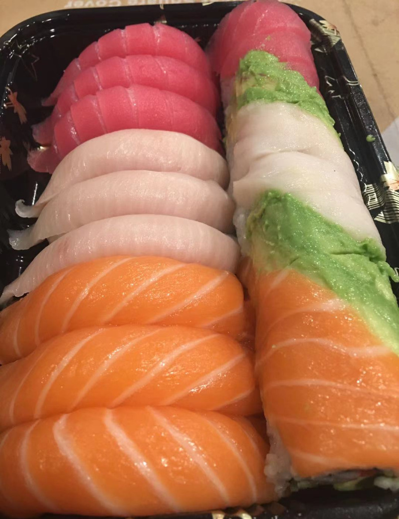 Tri-Color Sushi Image