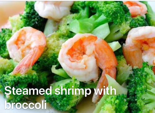 1. Shrimp with Broccoli