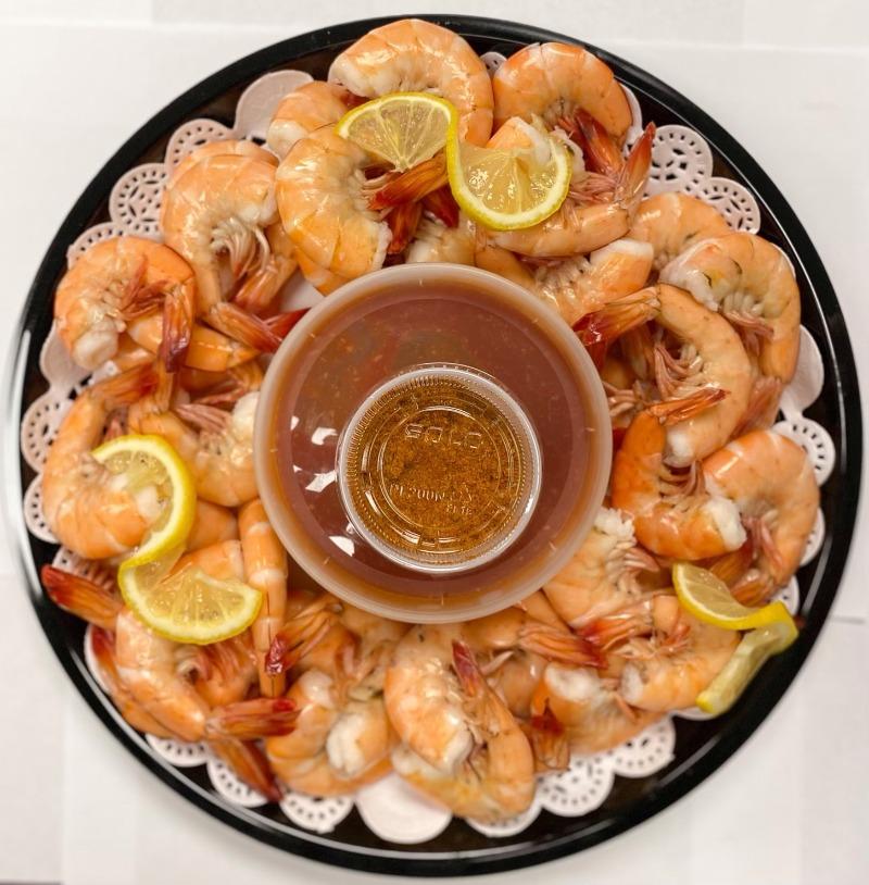 Large Steamed Shrimp Platter Image