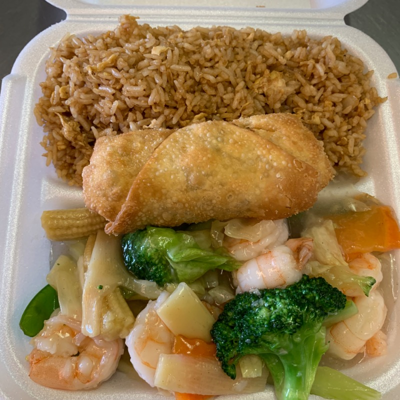 Shrimp with Vegetables Lunch Image