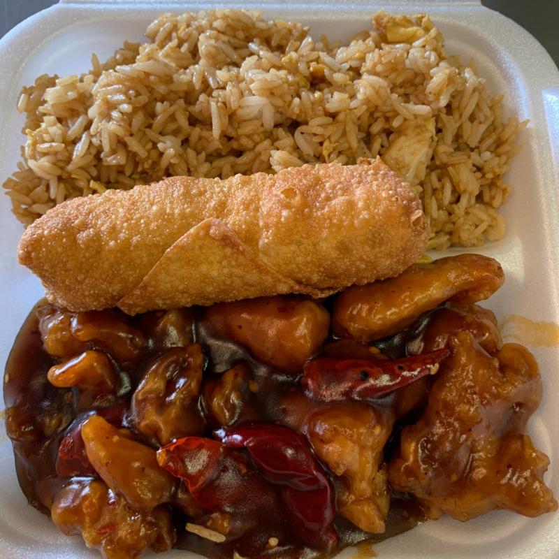 Orange Chicken Lunch Image