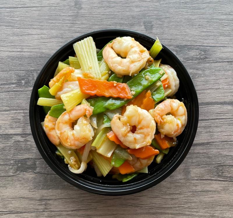 Shrimp with Vegetables(时菜虾)