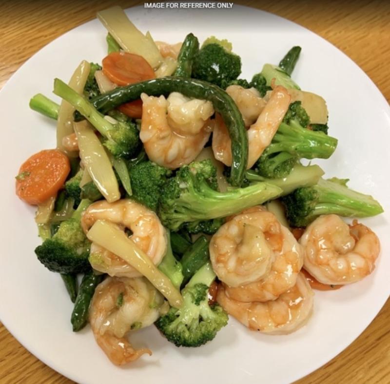 Shrimp w. Mix Vegetable 素菜虾 Image