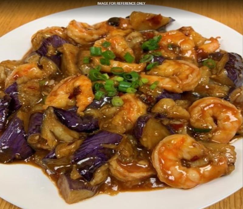 Shrimp w. Chinese Eggplant 茄子虾 Image