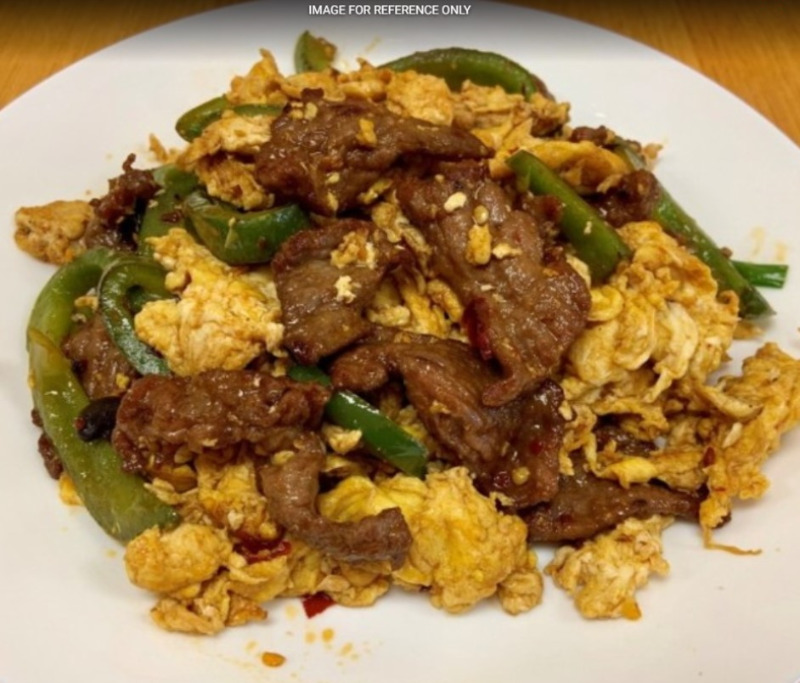 Green Pepper Beef Scramble Eggs青椒牛肉炒蛋