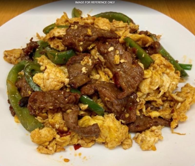 Green Pepper Beef Scramble Eggs青椒牛肉炒蛋 Image