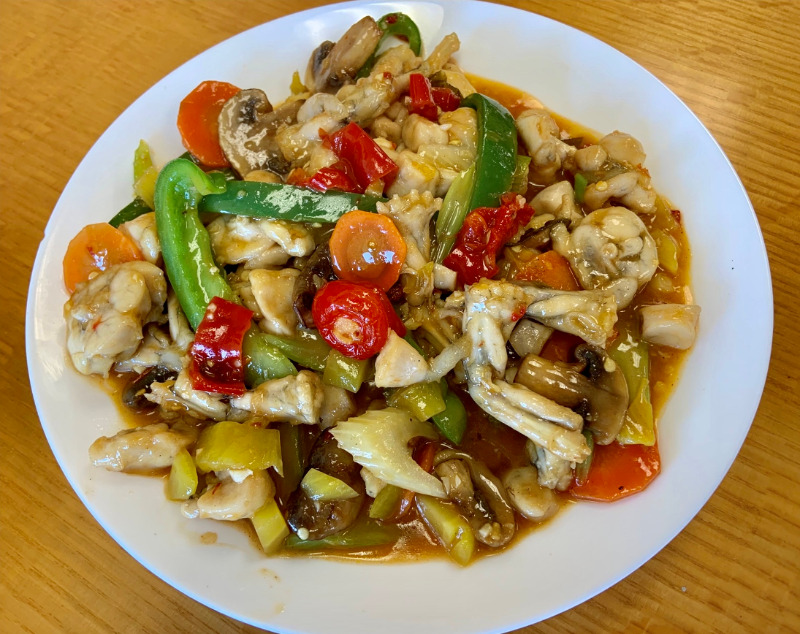 Frog Legs w. Pickle of Red Pepper 泡椒牛蛙 Image